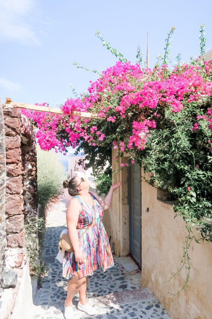 Nicole in Santorini